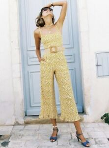 faithfull the brand Marguerite Floral Yellow Frankie Jumpsuit