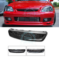 Front Bumper Honeycomb Hood Mesh Grill Grille ABS For Honda Civic 1999-2000