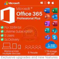 🔥M.S Office 365 Pro Plus 2020 ✅ 5Tb 5 Devices ✅ Windows/Mac(5 Min Delivery)