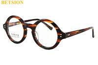 Vintage Small Round HANDMADE Glasses Tortoise Eyeglasses Frames Rx able 292