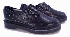 💥Dr. Martens Doc Swarovski Elements Black Leather Crystal Shoe UK 4 US 6💥