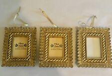 Vintage Gold Photo Frames Set Of 3 2.5 x 3.5