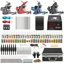 Solong Tattoo Kits Complete Starter Tattoo Kit 4 Tattoo Coil Machine Guns 54 Col