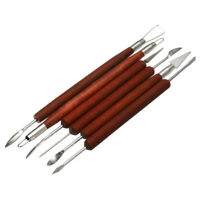6pcs Clay Sculpting Set Wax Carving Pottery Tools  Ceramic Polymer Shapers