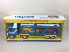 Vintage 1994 Buddy L Car Carrier w/ Twin Turbos Playset My First Buddy BNIB