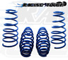 Front & Rear Blue Lowering Springs 4pcs Mitsubishi Eclipse 1995 1996 1997-1999