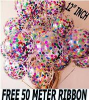 "20 pcs 12"" Confetti Latex Balloons Helium Birthday Wedding Hen Party Decoration"