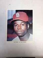 St Louis Cardinals Lou Brock 7 x 8 3/4 Photo-MLB Baseball