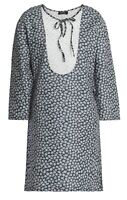 A.P.C. Floral Print Mini Dress With White Broderie Anglaise Bib. UK 10/FR 38