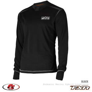 New FXR 2021 Endeavor Merino Men's Base Layer Snowmobile Shirt MD LG XL 2XL 3XL