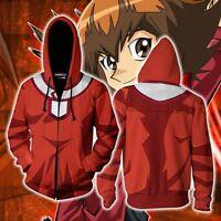 Unisex Aikooki Yu Gi Oh Muto Yugi Orange Costume Sweatshirt Hoodie Jacket Tops