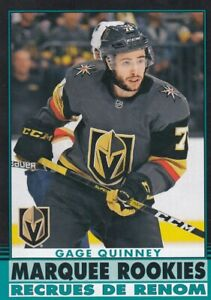 2020-21 O PEE CHEE BLACK BORDER 14/100 MARQUEE ROOKIE GAGE QUINNEY NO:521