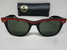 New Vintage B&L Ray Ban 47mm Small Wayfarer Street Neat Electric Red Sunglasses