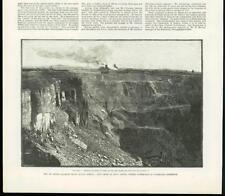 1888 - Antique Print SOUTH AFRICA De Beers Diamond Mine  (278B)