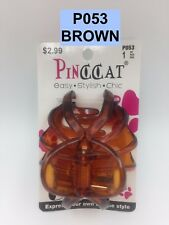 PINCCAT HAIR BUTTERFLY CLAW CLAMP CLIP BROWN  # P053 1PC