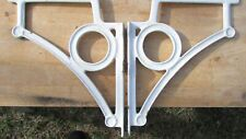 Pair Antique Porcelain Enamel Cast Iron Sink Support Brackets