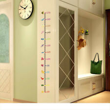 Children Kid Height Measurement Growth Chart Wall Sticker Cartoon Animal Decal