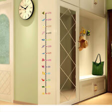 DIY Decor Vinyl Wall Sticker Removable Cute Animal Height Chart Measure For Kid