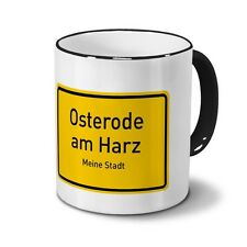 Städtetasse Osterode am Harz - Design Ortsschild