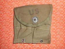 U.S.ARMY: 1958 VIET NAM WAR 1 MAGAZINE POUCH,DOUBLE,WEB,CARBINE Cal .30 M-1