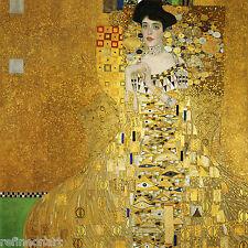 Portrait of Adele Bloch-Bauer I by Gustav Klimt Giclee Canvas Print