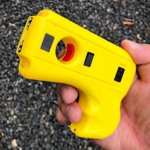 Striker 10 MV Rechargeable Pistol Grip STUN GUN w/ LED Light & Safety Pin YELLOW