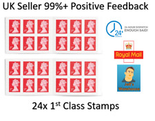 1st First Class Royal Mail Self Adhesive Stamps x12 1st Class Stamps x 2 books