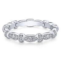 Fashion Women 925 Silver,rose Gold Wedding Rings White Sapphire Ring Size 6-10