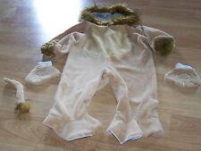 Infant Size 12-18 Months Plush Lion Halloween Costume Hood Jumpsuit Mittens EUC