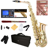Mendini Rose Gold Brass Alto Saxophone Sax +Tuner+Book+Case+CareKit ~MAS-30