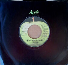 WINGS (PAUL McCARTNEY) - LIVE AND LET DIE b/w I LIE AROUND - APPLE 45