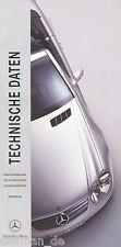 Mercedes Technische Daten Publikation 2001 9/01 184 S. Auto Produktinformation