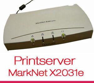 Printserver Lexmark Marknet X2000 X2031e 4034-324 Parallel Printer Over Network