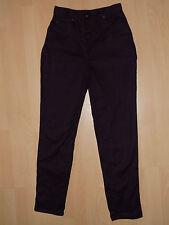 Damen Hose dunkel-lila - hoher Bund - breite Hüfte - Gr. 38
