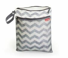 Diaper Wet-Dry Bag Baby Cloth Wet Nappy Reusable Waterproof Washable, Chevron