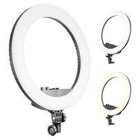 Bi-colour Continuous LED Ring Light Video Makeup Artist Lighting Photography