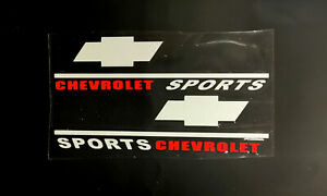 ☆New☆A Pair Rearview Mirror Car stickers Decals Graphics For Chevrolet (White)