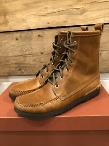 Quoddy Grizzly Boots Horween Cavalier Whiskey Mens Size 8 D Made in USA! New!