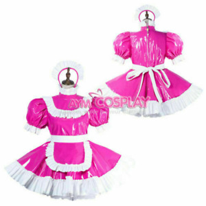 Sissy maid PVC dress cosplay costume tailor-made