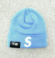 Supreme x New Era Light Blue S Logo FW17 Beanie