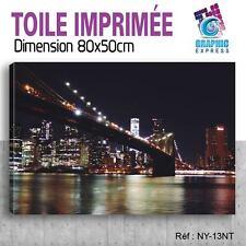 80x50cm - TOILE IMPRIMÉE - TABLEAU MODERNE DECORATION MURALE - NEW YORK - NY-13T