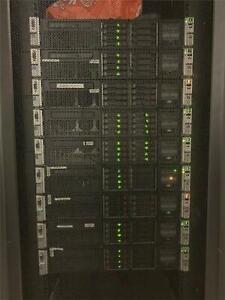 11 x HP ProLiant DL380p G8 Servers - 2x8Core 2.9GHz in cabinet