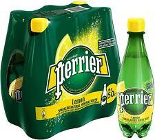Perrier Lemon Sparkling Natural Mineral Water 24 x 500ml Plastic Screw Bottles