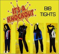 KNOCKOUT CLEARANCE Cycling Bibtights, double seat, no insert,  Schils UK .
