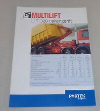 Prospekt / Broschüre Multilift LHT 320 Hakengerät Stand 06/2000