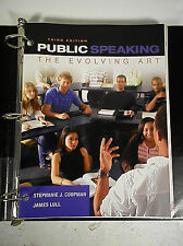 Public Speaking: The Evolving Art Third Edition Stephanie Coopman