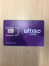 Ultra Mobile Sim Card+3 Months $19 Plan 4G Lte Unlimited 3G For Each Month Spain