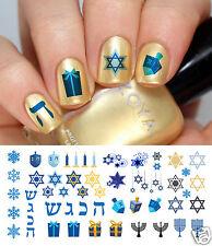 Hanukkah Holiday Nail Art Waterslide Decals Set #1 - Salon Quality!