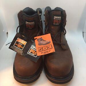 "Timberland Pro Pit Boss 6"" Steel Toe Work Boots 7m Nib"