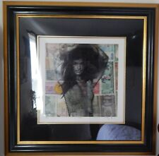 Royi Akavia HALA Hand Signed Limited Edition 40 / 50 Framed Mixed Media Currency